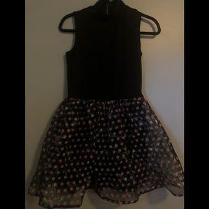 Black Mini Flounce Dress